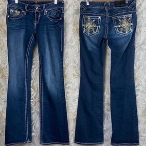 Vigoss The Chelsea Bootcut stretch bling jeans 3/4